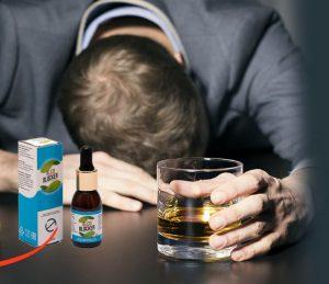 bloc d'alcool homme ivre allongé sur la table