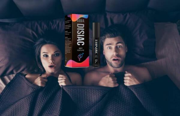 Aqua Disiac, homme et femme au lit