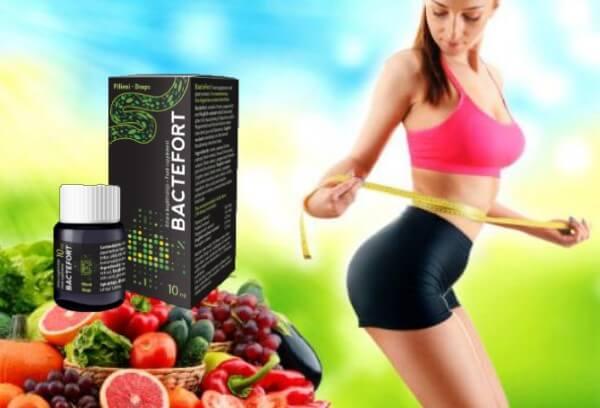 perte de poids gouttes bactefort, femme, fruit