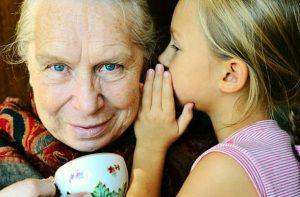 Grand-mère et petit-fils