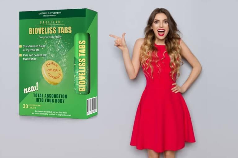 onglets biovelis, une femme heureuse en robe rouge