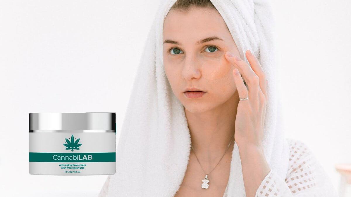 utilisation de crème pour le visage au cannabillab