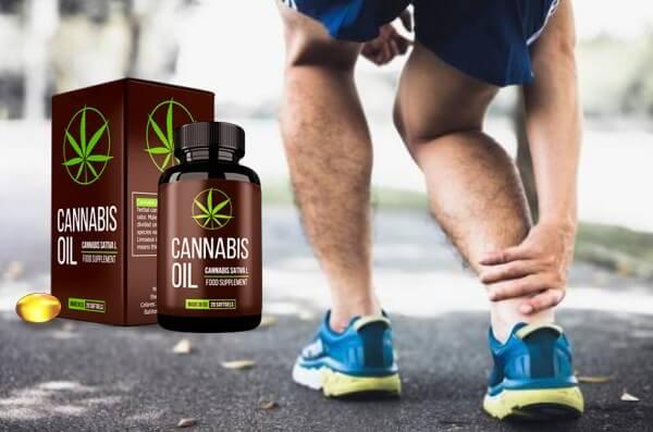 capsules d'huile de cannabis, huile de chanvre, douleurs articulaires
