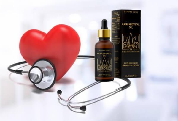 coeur, huile de cannabis