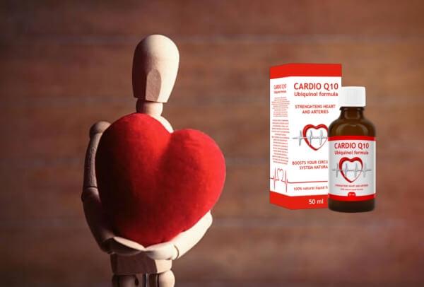 Cardio Q10, un homme en bois avec un cœur