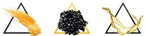 or, caviar noir