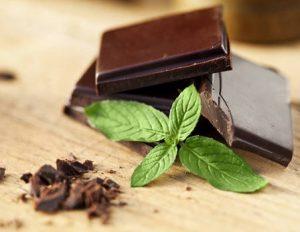 chocolat noir et menthe