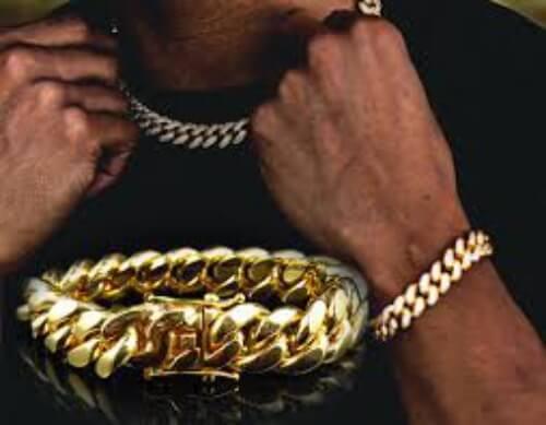 Bracelet pulsar cubain, or