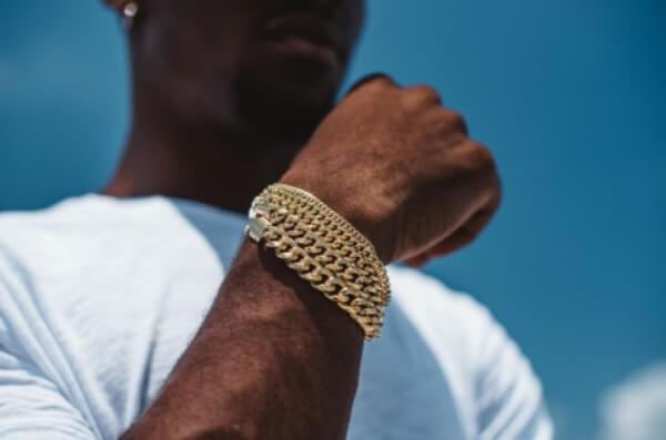 pulsera cubain, bracelet, or
