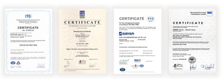 certificats de détoxication