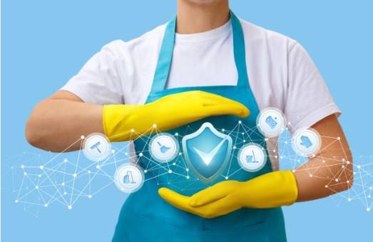 désinfection à domicile, détergents, désinfectants, gants