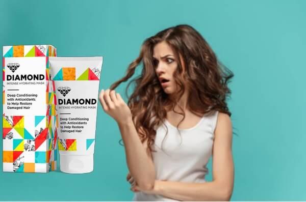 masque de diamant, cheveux épuisés