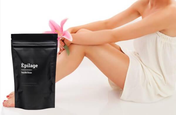 composition et formule d'épilage, jambes de femmes