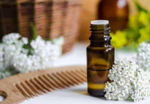 huile essentielle, peigne