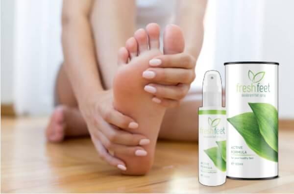 spray Fresh Fit, pieds