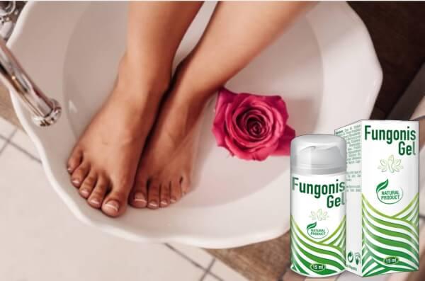 gel fungonis, jambes, rose