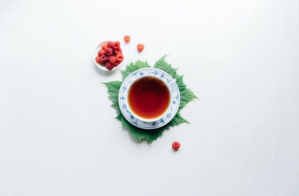 thé, framboise