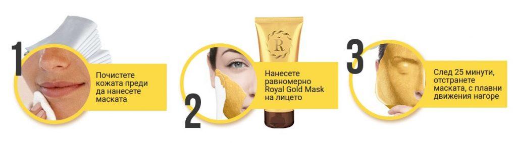 mode d'emploi du masque royal en or