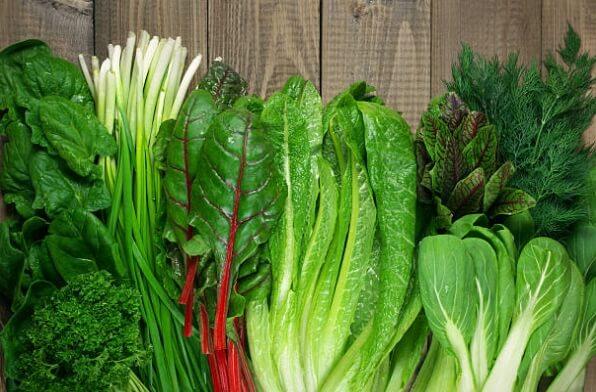 Légumes à feuilles vertes