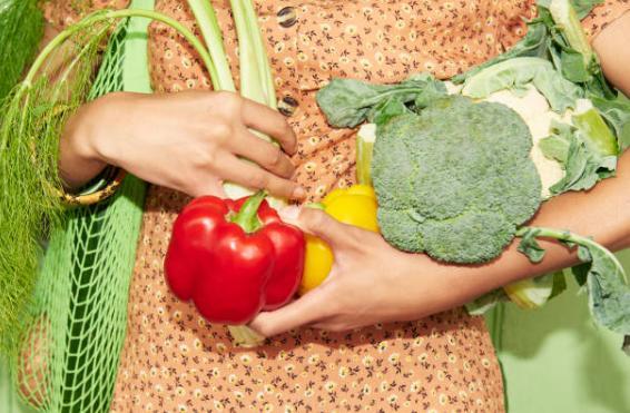 brocoli, poivrons