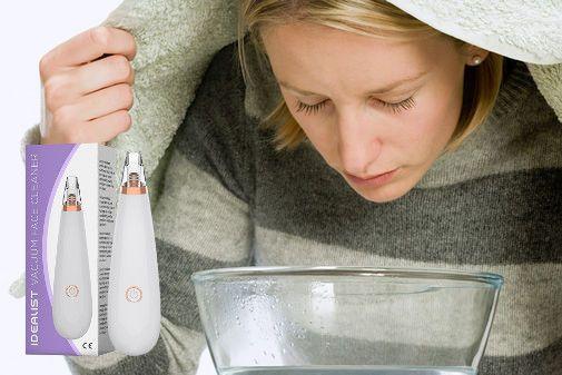 inhalation femme visage idéaliste aspirateur