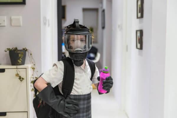 enfant, masque, respirateur