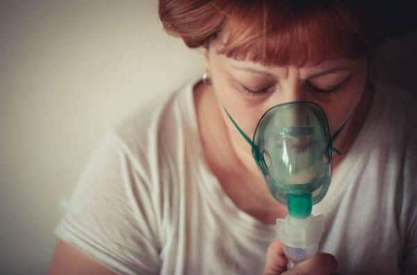 respirateur, femme, respiration