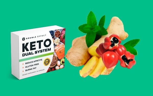système double céto, ingrédients, gingembre, guarana, menthe