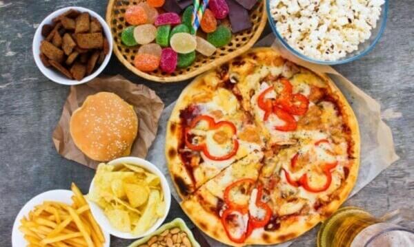 pizza, frites