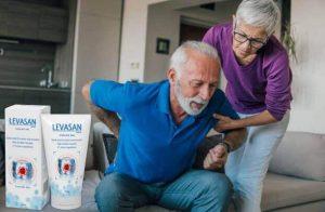 Levasan Maxx, un homme souffrant de lombalgie et une femme