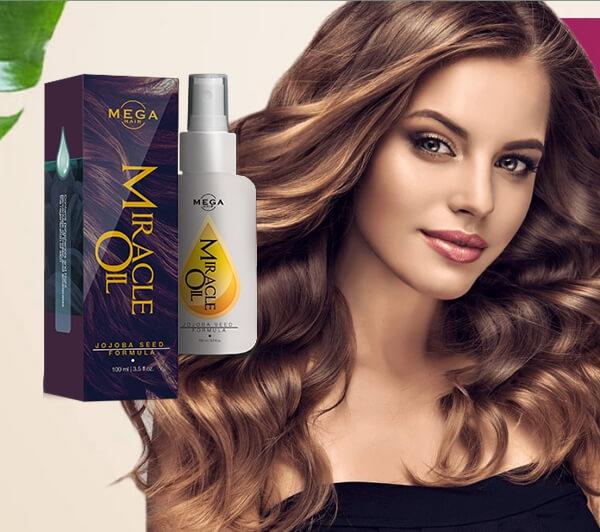 huile miracle méga cheveux, cheveux luxuriants et épais