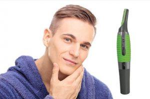 Micro Touch Max, un homme au visage lisse