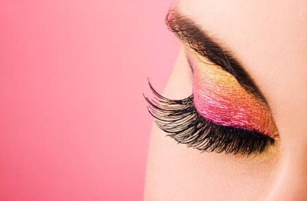 cils, maquillage, oeil