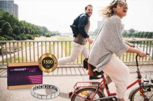 femme faisant du vélo, Bracelet NeoMagnet
