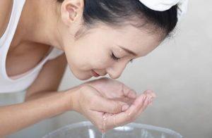 lavage du visage
