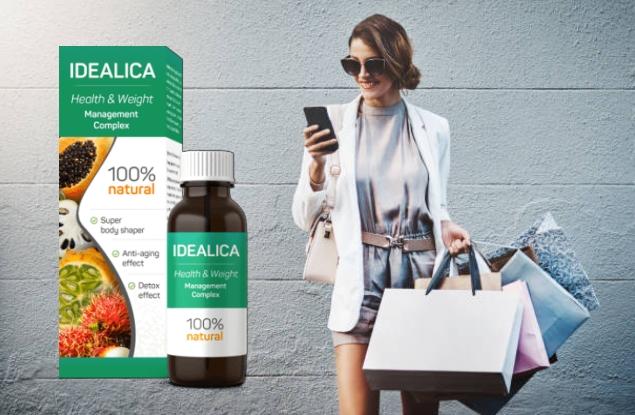 Pack de prix Idealica plus, fille avec téléphone et shopping