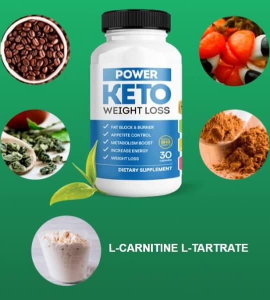 Ingrédients Power Keto Capsules de perte de poids