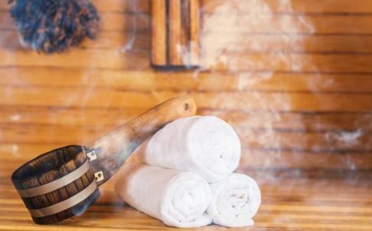 bain de vapeur, sauna, serviettes