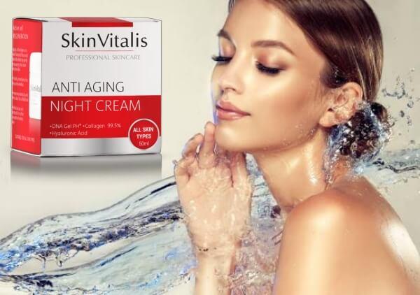 skin vitalis, crème de nuit, visage, peau