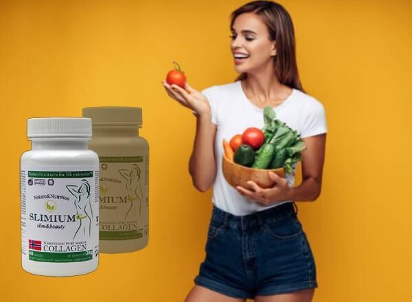 capsules naturelles slimium, femme, légumes