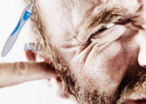 Smart Swab, un homme qui a mal aux oreilles