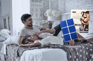 Turbo Max Blue, un couple heureux au lit