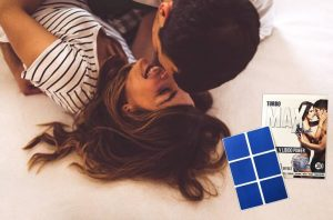 Patchs Turbo Max Blue, homme et femme au lit