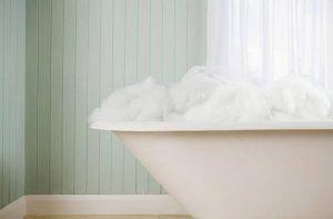 bain avec mousse