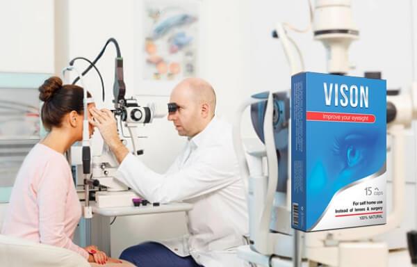 Capsules Vizon, examen, yeux