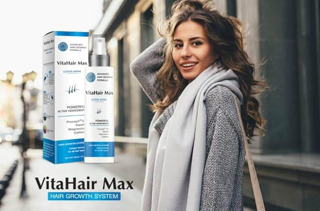Spray VitaHair Max, une fille aux cheveux longs