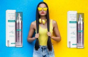 Vivese Senso Duo Shampoo, une femme aux cheveux longs