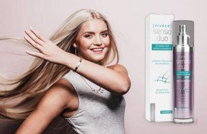Vivese Senso Duo Shampoo, une femme heureuse aux cheveux longs