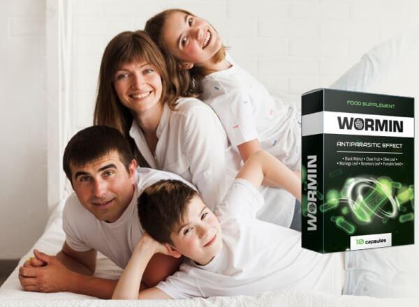 famille, santé, gélules détox, wormine