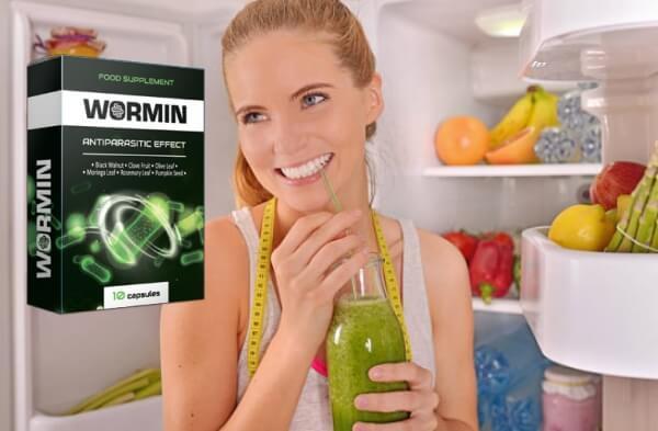 capsules de wormine, désintoxication, parasites, femme